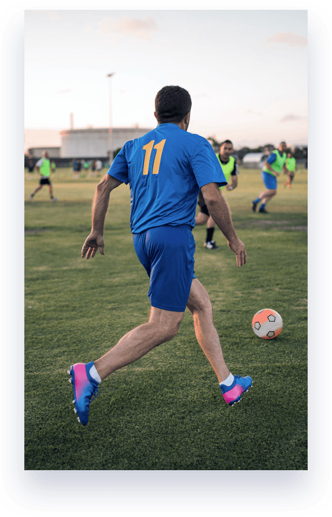 man playing in soccer game